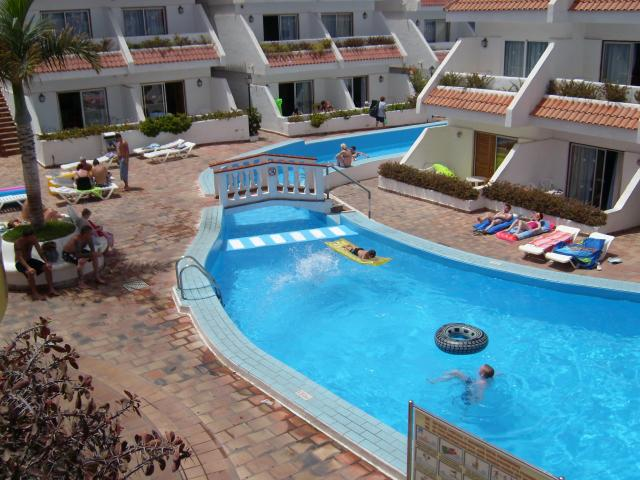 Pool view from Balcony - Las Floritas, Playa de las Americas, Tenerife